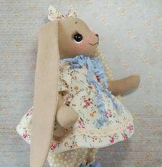 Animal art doll ooak bunny Handmade animal art doll textile