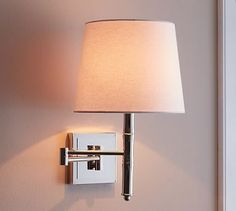Add style to any room with expertly crafted and designed wall sconces from Pottery Barn. Shop glass, metal and wood wall lights and lamps to complete your look. Wall Lamp, Bedroom Lighting, Sconces, Chandelier Shades, Wall Mounted Lamps, Light Fixtures, Sconces Wall Lamps, Hall Mirrors, Wall Sconce Hallway