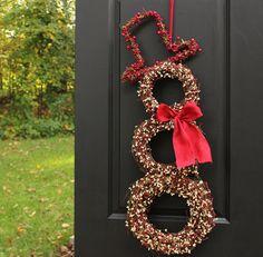 Cyber Monday Free Wreath Hanger - Christmas Wreath - Snowman Wreath - Holiday Wreath - Choose Scarf