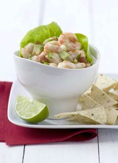 This refreshing ceviche, best served very cold, is quick to make because the shrimp are boiled first. If you like your food a bit spicy, leave the seeds in the jalapeño.