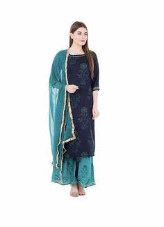 Kurta Designs For Female, Beautiful Dresses, Nice Dresses, Checkered Trousers, Red Kurta, A Line Kurti, Cotton Silk Fabric, Kurta Palazzo, Printed Kurti