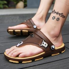 620ed5d6072 Summer Cool Beach Sandal Slipper Casual Shoes For Men s