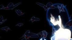 Vr Anime, Fanarts Anime, Witch Gif, Banner Gif, Enma Ai, Banners, Creepy Gif, Death Note Cosplay, Emo Anime Girl