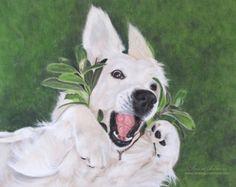 "Hundeportrait Golden Retriever ""Trudi"", Pastellkreide - Tierportrait nach Fotovorlage von Simone Hofmann - www.simone-hofmann.com -  Dog painting"