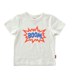 Tapete Wit Jongens T-shirt Met Cartoon BOOM