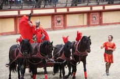 Roman chariot at Puy du Fou