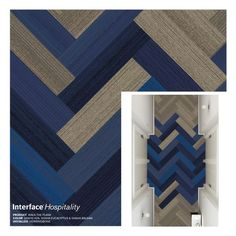 Interface Walk The Plank Carpet Tile, Herringbone Corridor: