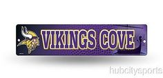 "Minnesota Vikings Street Sign NEW! 4""X16"" ""Vikings Cove"" Man Cave NFL"