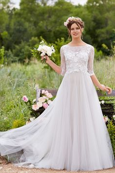 Love Marley by Watters offers whimsical, romantic gowns like this one: Amelie, style 54719.