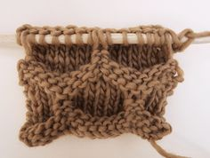 Learn how to knit 'the hive'