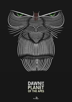 Dawn of the Planet of the Apes Poster design by Jason W Stanley via www.CreativeJUUS.com