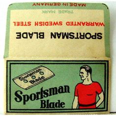 Vintage SPORTSMAN DOUBLE EDGE Safety Razor Blade