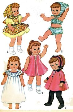 Ruthie Patsy Ann Doll Clothes PATTERNS 2466 FOR 20-21 inch Toddler Little Girl #McCall2466