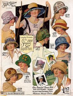 1920's hats.... wish i could pull these off!!!