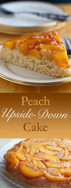 This is a lightly sweetened vegan peach upside-down cake that allows the fresh flavor of the peaches to shine through. Only 1g fat per serving!