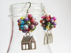 """Earrings inspired by the movie, """"Up."""" These are so cute!  I bet they'd be pretty easy to make, too!"""