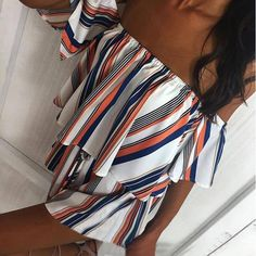 White Playsuit with colouful stripes #outfit #floralprint #fashionista #wanderlust #lifestyle #instagood #positivevibes #ilovefashion #floralprinteverything #jumpsuit #playsuit #fashion #lingeriecenter