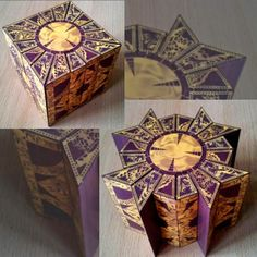 Tektonten Papercraft - Free Papercraft, Paper Models and Paper Toys: Papercraft Hellraiser Lemarchand Puzzle Cube 3d Paper Crafts, Diy Arts And Crafts, Paper Toys, Foam Crafts, Cube Puzzle, Paper Ornaments, Up Book, Graphics Fairy, Movie Props