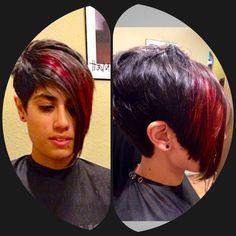 Hair by Jamie... Amazing edgy haircut @salonhethers