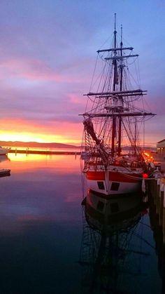 The Lady Nelson at the Hobart Docks, Hobart, Tasmania, Australia. Tasmania, Gold Coast Australia, Travel Memories, Sky High, Beautiful Scenery, Australia Travel, East Coast, Sailing Ships, Great Places