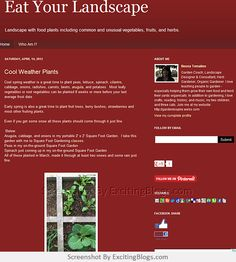 Gardening Blogs, Spring Weather, I Cool, Edible Garden, Beets, Cabbage, Fruit, Plants, The Fruit