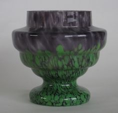 793: 4 Czechoslovakian glass pieces : Lot 0793