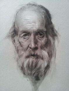 Portrait by Jeff Hein, charcoal, Salt Lake City, Utah