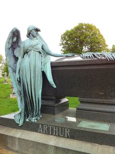 Angel on the gravesite of Chester A Arthur President of the United States