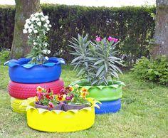 Bunte Gartenideen Autoreifen Schlueter Design2,upcycling Alte Reifen,  Weiteres Unter Www.recyclinu2026 | Alte Reifen Als Gartendeko, Mit Autoreifen  Basteln ...