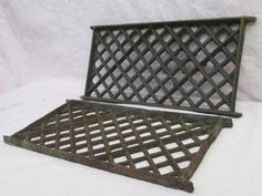 2 flat cast iron grates fretwork vent covers air return salvage d - Foundation Vent Covers