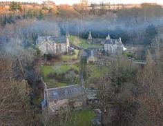 The village of Temple, fascinating looking place, the smoke from the chimney was creating a strange sort of wreath over the village