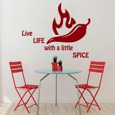 Pepper Wall Decals Wall Quotes Spice Life Kitchen Wall Decor Vinyl Sticker Home Decor Kids Vinyl Art Wall Decor Nursery Wall Decor Entryway Wall Decor, Nursery Wall Decor, Metal Wall Decor, Home Wall Decor, Room Decor, Kitchen Wall Quotes, Kitchen Vinyl, Life Kitchen, Target Wall Decor