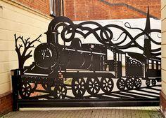 Train Gate in Peirpoint Street, Worcester