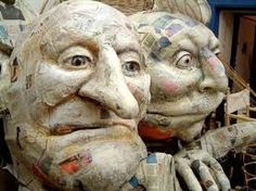 Resultado de imagen para set of old papier mache puppets