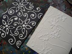 foil art  with elmer's glue and aluminum foil (use black tempera instead of shoe polish?)