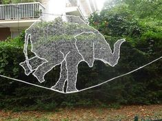 Animal String Art #Tightrope #Elephant #Design