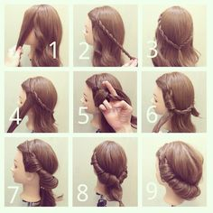 Tuck and Cover Updo Hairstyle DIY