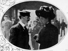 A Steward and Stewardess, Surviving Crew of the Titanic