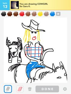 Cowgirl Draw Something
