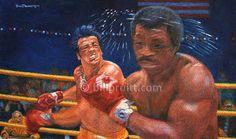 Sylvester Stallone Rocky Balboa Rocky 2 Apollo by billpruittart, $15.00