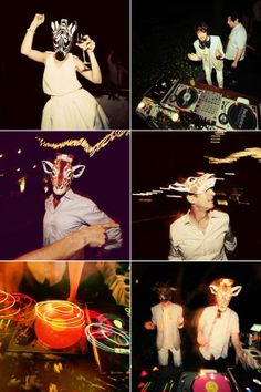 animals masks at the reception? yes and yes. (via snippet and ink)