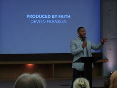 Devon Franklin speaks at the Faith and Film Summit in Nashville