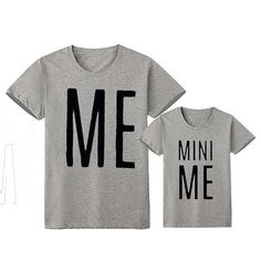 Pattern: LetterSleeve Length: ShortFit: Fits true to sizeMaterial: Cotton BlendColor: grey White BlackSummary: Dad Mom Baby Short Sleeve T-shirt Letter MINI ME Mom And Baby Outfits, Matching Family Outfits, Matching Shirts, Kids Outfits, Matching Clothes, Dad To Be Shirts, Family Shirts, My T Shirt, Mini Me