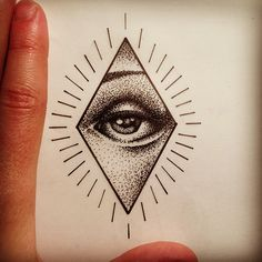 Small eye #tattoo #tattooart #tattooflash #geometric #geometry #dotwork #stipple