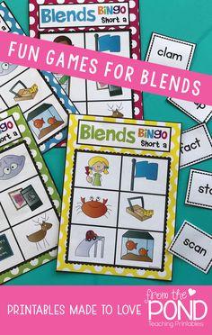Consonant Blends Bingo - fun games for learning