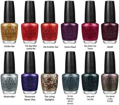 OPI nail polish Skyfall collection