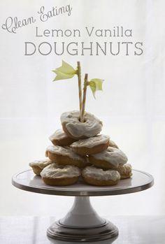 Clean Eating Lemon Vanilla Doughnuts (by All Sorts of Pretty)
