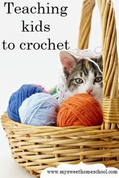 My Sweet Homeschool: Teaching kids to crochet. Lots of helpful hints to teach your kids!