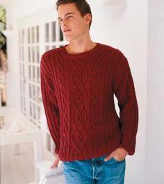 Κόκκινο πουλόβερ με στρογγυλή λαιμόκοψη