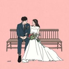 26 ideas wedding couple drawing sweets for 2019 Cute Couple Drawings, Cute Couple Art, Anime Love Couple, Cute Drawings, Anime Couples, Cute Couples, Cute Couple Wallpaper, Wedding Drawing, Couple Illustration